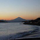 Fuji-san At Dusk by J J  Everson