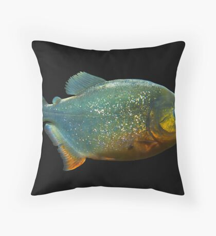 Piranha! Throw Pillow