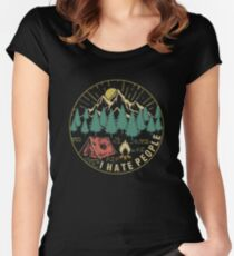 Camping Hiking I Hate People Women's Fitted Scoop T-Shirt
