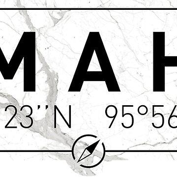 The longitude and latitude of Omaha by efomylod