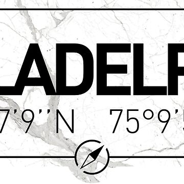 The longitude and latitude of Philadelphia by efomylod