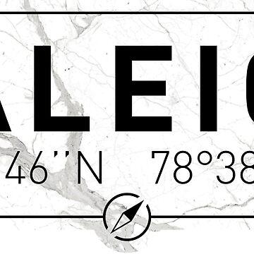 The longitude and latitude of Raleigh by efomylod