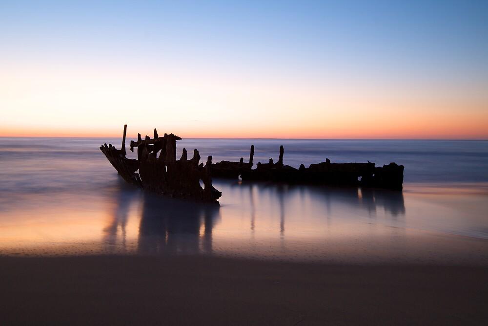 Dicky Beach at Dawn by Jocelyn Pride