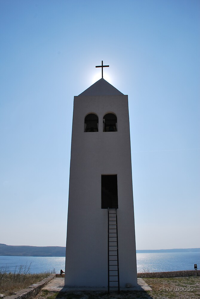 Rtina Bell Tower Croatia by clive woods