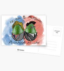 Avocados im Gesetz Postkarten