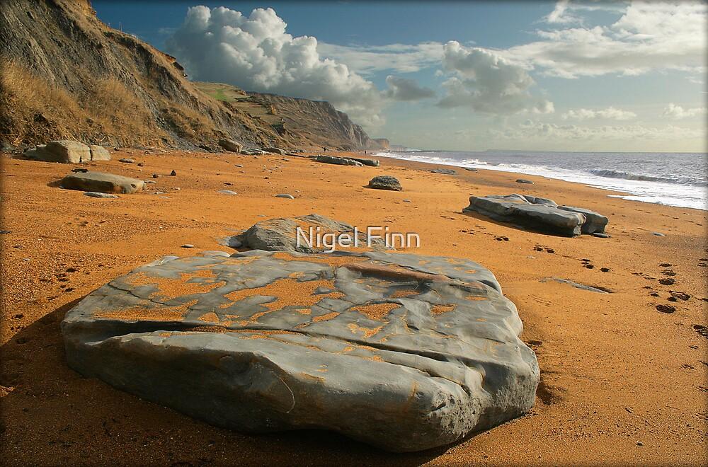 Tables On A Beach by Nigel Finn