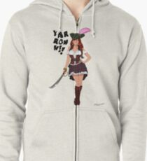Lusty Pirate Queen Zipped Hoodie