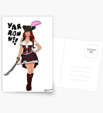 Lusty Pirate Queen Postcards