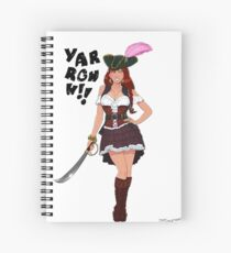 Lusty Pirate Queen Spiral Notebook