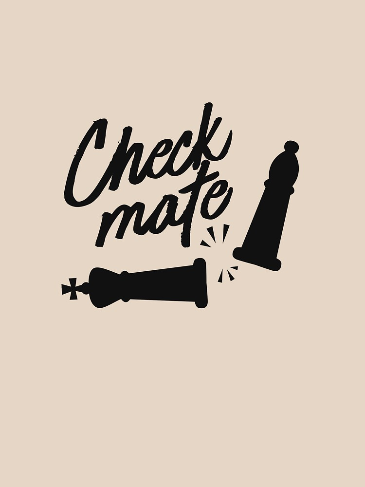 Chess Design Check Mate Move Design For Chess Players by artbyanave
