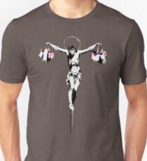 banksy Jesus Christ crucified Unisex T-Shirt