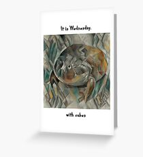 It Is Wednesday, with Cubes Greeting Card