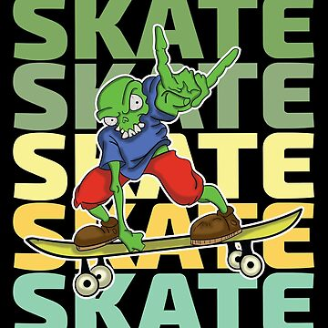 Skateboarding Skeleton Design - Skate by kudostees