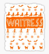 Cool Waitress Ugly Halloween Gift t-shirt Sticker