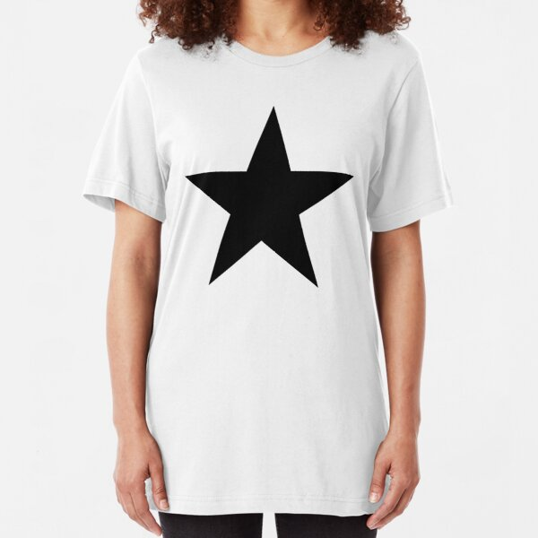 BLACK Star, Dark Star, Black Hole, Stellar, Achievement, Cool. Slim Fit T-Shirt Unisex Tshirt