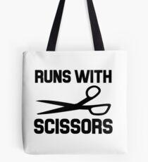 Run with Scissors Tote Bag