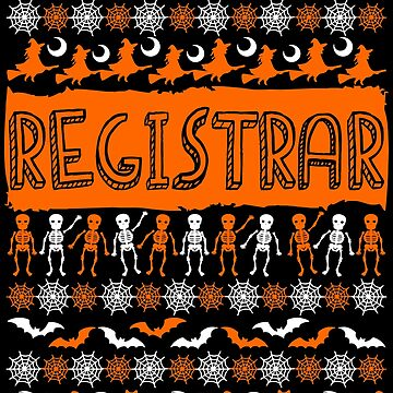 Cool Registrar Ugly Halloween Gift t-shirt by BBPDesigns