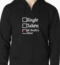 Darkest Dungeon - Single Taken At death's door (for Black and other coloured shirts!) Zipped Hoodie