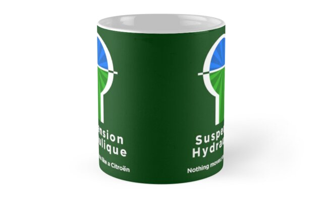 Citroen Suspension Hydraulic Graphic T-shirt Classic Mugs