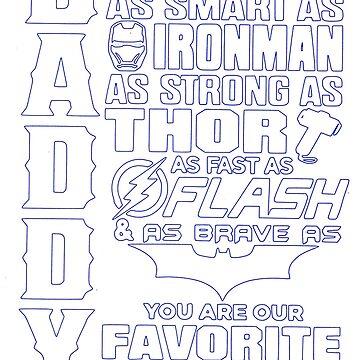 Daddy favorite superhero by tqueen