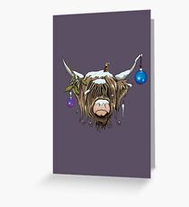 Christmas Highland Cow Greeting Card