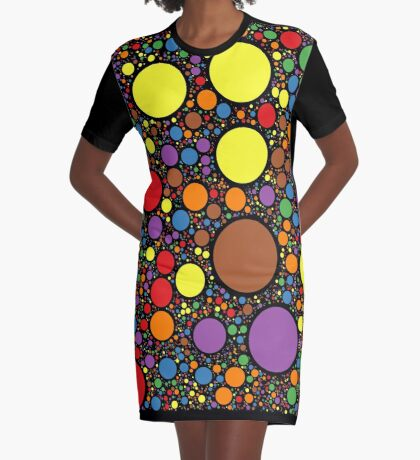 Circle Packing 214 Graphic T-Shirt Dress