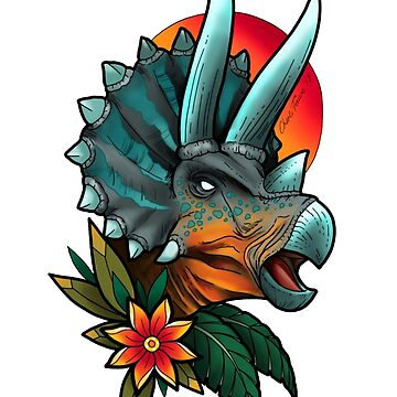 Tropical Triceratops by CharliFaure