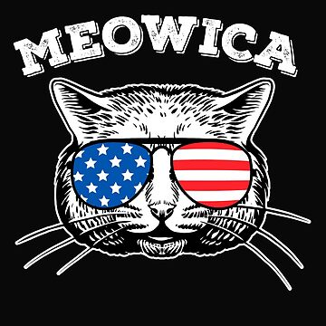 Meowica American Flag Shirt, 4th of July by ShirtPro
