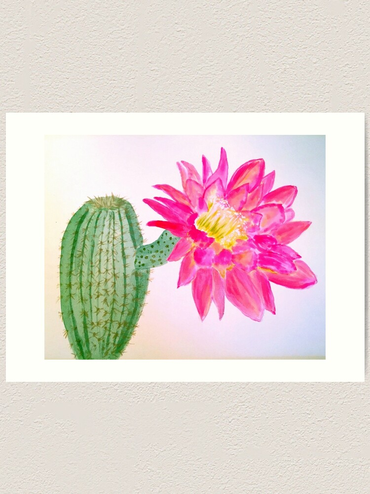 Alternate view of Cactus Bloom Art Print