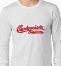 BUDWEISER BUDVAR LOGO Long Sleeve T-Shirt