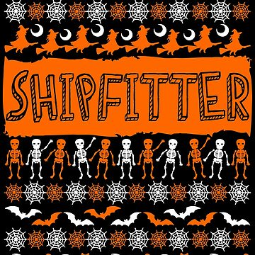 Cool Shipfitter Ugly Halloween Gift t-shirt by BBPDesigns