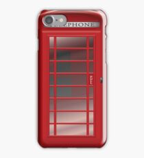 London Red Phone Booth Box  iPhone Case/Skin