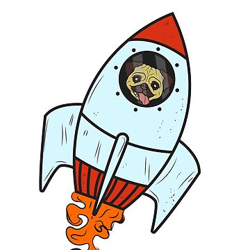 Dog Rocket Astronaut Space Paw Pet by MyShirt24