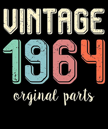 Vintage Retro 1964 55 Years Old 55th Birthday Gift T Shirt