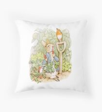 PETER RABBIT, Nursery Characters, Peter Rabbit, eating radishes, The Tale of Peter Rabbit Floor Pillow
