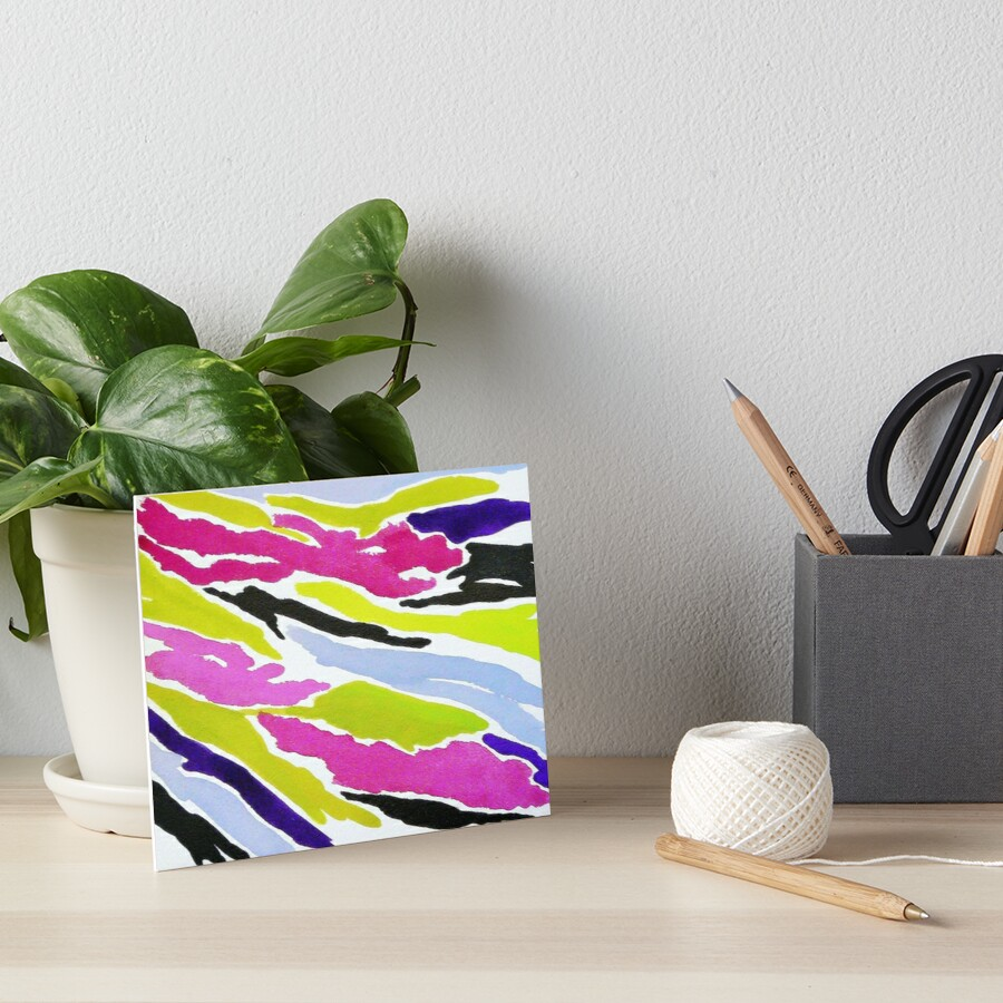 Bright Art Board Print
