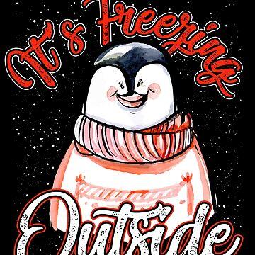Winter Christmas penguins by GeschenkIdee