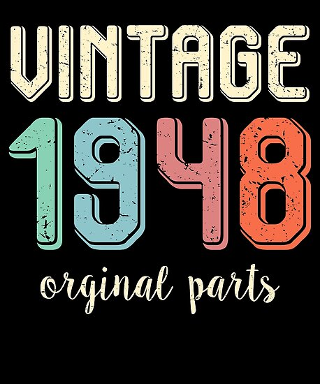 Vintage Retro 1948 70 Years Old 70th Birthday Gift T Shirt