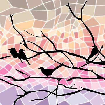 Abstract Birds on a Tree  by TurboRights