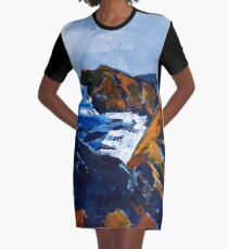 Rocky Surf Graphic T-Shirt Dress