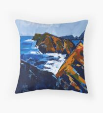 Rocky Surf Throw Pillow
