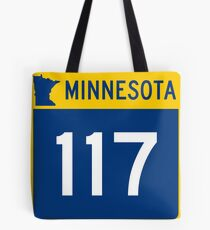 Minnesota Trunk Highway MN 117   United States Highway Shield Sign Sticker Tote Bag