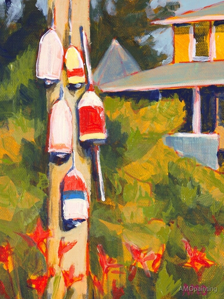 Buoys on a Telephone Pole by AMOpainting