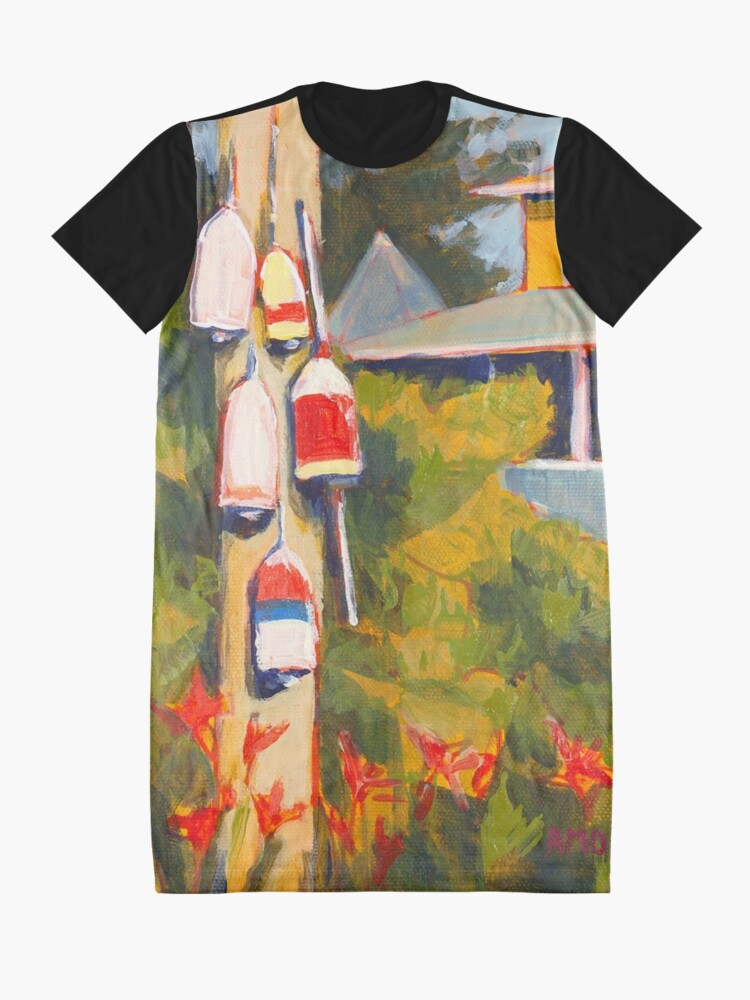 Alternate view of Buoys on a Telephone Pole Graphic T-Shirt Dress