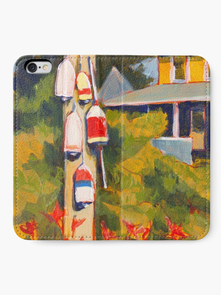 Alternate view of Buoys on a Telephone Pole iPhone Wallet
