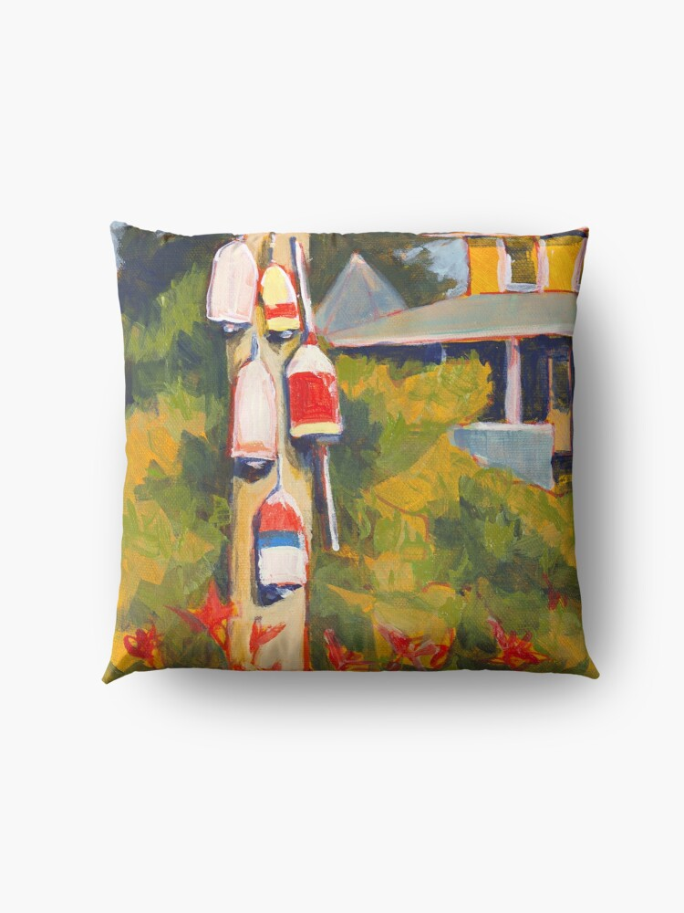 Alternate view of Buoys on a Telephone Pole Floor Pillow