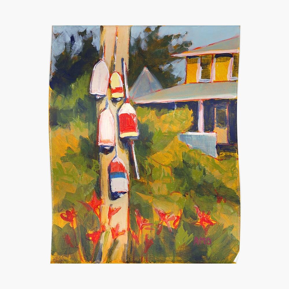 Buoys on a Telephone Pole Poster
