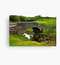 Packhorse Bridge - River Swale Canvas Print
