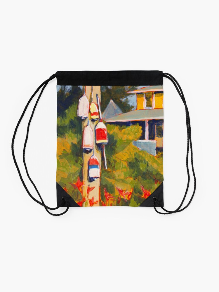 Alternate view of Buoys on a Telephone Pole Drawstring Bag