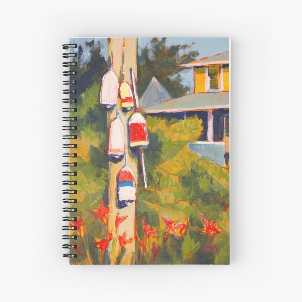 Buoys on a Telephone Pole Spiral Notebook